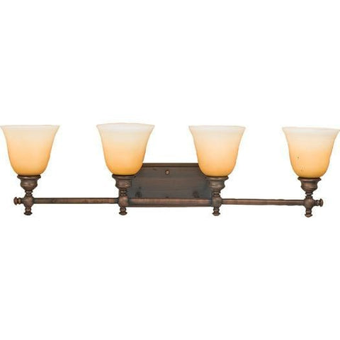 Quoizel Lighting 5923 BH Fairfield Collection Four Light Bath Wall Fixture in Brushed Oil Bronze Finish - Quality Discount Lighting