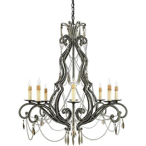 Quoizel Lighting RDA5008 RY Diana Collection Eight Light Chandelier in Regency Gold Finish - Quality Discount Lighting