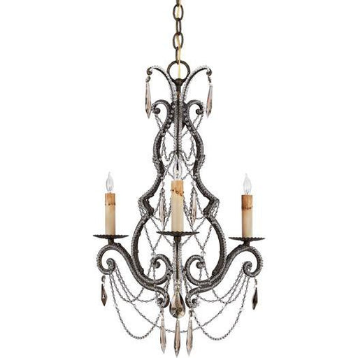 Quoizel Lighting RDA5003 RY Diana Collection Three Light Chandelier in Regency Gold Finish - Quality Discount Lighting