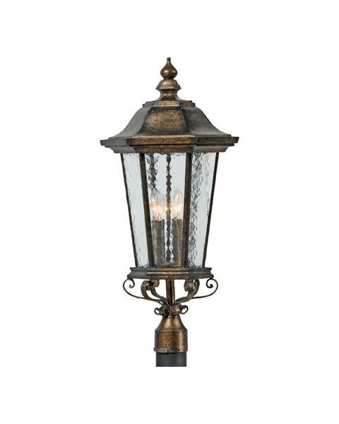 Quoizel Lighting 5933 DS Notting Hill Collection Outdoor Post Lantern in Dark Silver Finish - Quality Discount Lighting