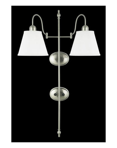 Quoizel Lighting HDS1062 BN Two Light Wall Sconce in Brushed Nickel Finish - Quality Discount Lighting
