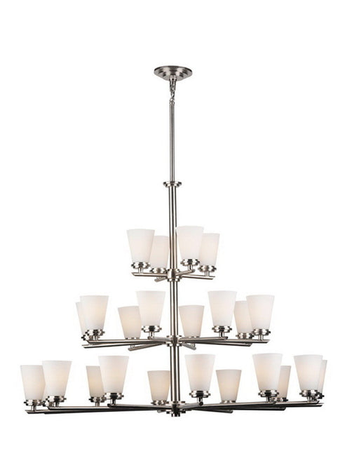 Forecast Lighting FDS1620-36 Ensemble-Town & Country Collection Chandelier in Satin Nickel Finish