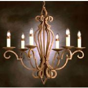 Kichler Lighting 2238 OB Riviera Collection Six Light Chandelier in Olde Brick Finish - Quality Discount Lighting