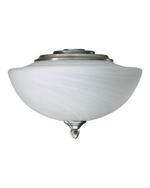 Quorum International 2385-165 Salon Collection Fan Light Kit in Satin Nickel Finish - Quorum Salon Fan - Quality Discount Lighting