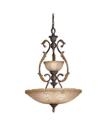 Kichler Lighting 3265 ACK Four Light Chandelier Pendant in Antique Crackle Finish - Quality Discount Lighting