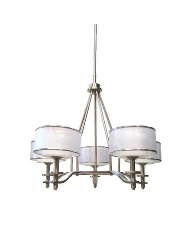 Quoizel Lighting HSW5005 BN Hillsview Collection Five Light Chandelier in Brushed Nickel Finish - Quality Discount Lighting