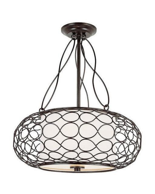 Trans Globe Lighting PND-820 Two Light Pendant Chandelier in Brown Finish - Quality Discount Lighting