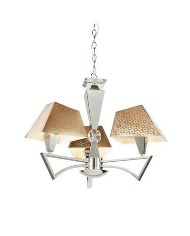 Trans Globe Lighting MDN-948 Three Light Chandelier in Polished Chrome Finish - Quality Discount Lighting