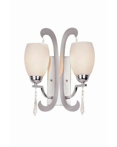 Trans Globe Lighting 1082 PC Two Light Wall Sconce in Polished Chrome Finish - Quality Discount Lighting