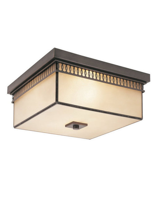 Trans Globe Lighting 70177 ROB Two Light Flush Ceiling Fixture in Rubbed Oil Bronze Finish