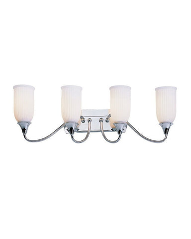 Trans Globe Lighting 7614 PC Four Light Bath Wall Fixture in Polished Chrome Finish - Quality Discount Lighting
