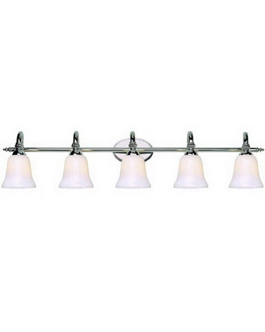 Trans Globe Lighting 2155 PC Five Light Bath Wall Fixture in Polished Chrome Finish - Quality Discount Lighting
