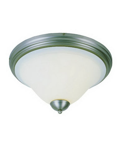 Trans Globe Lighting 29114 BN Two Light Flush Ceiling Fixture in Brushed Nickel Finish - Quality Discount Lighting