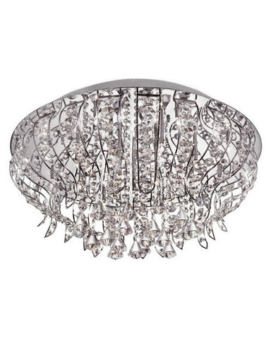 Trans Globe Lighting MDN-925 Nineteen Light Flush Ceiling Mount in Polished Chrome Finish - Quality Discount Lighting