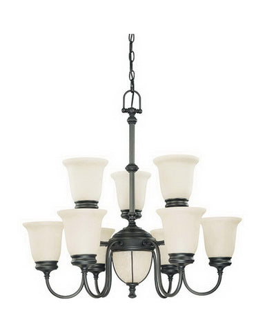 Nuvo Lighting 60-2811 Salem Collection Eleven Light Chandelier in Aged Bronze Finish - Quality Discount Lighting
