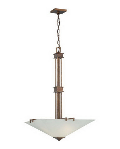 Nuvo Lighting 60-4409 Ratio Collection Three Light Pendant Chandelier in Inca Gold Finish - Quality Discount Lighting