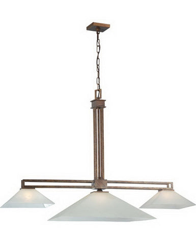 Nuvo Lighting 60-4403 Ratio Collection Three Light Island Pendant Chandelier in Inca Gold Finish - Quality Discount Lighting