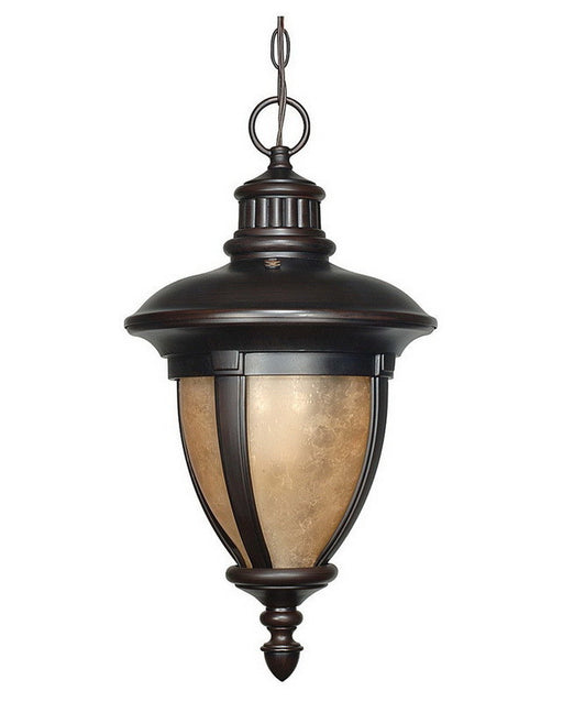 Nuvo Lighting 60-2521 Galeon Collection One Light Energy Efficient Fluorescent Exterior Outdoor Hanging Pendant in Old Penny Bronze Finish - Quality Discount Lighting