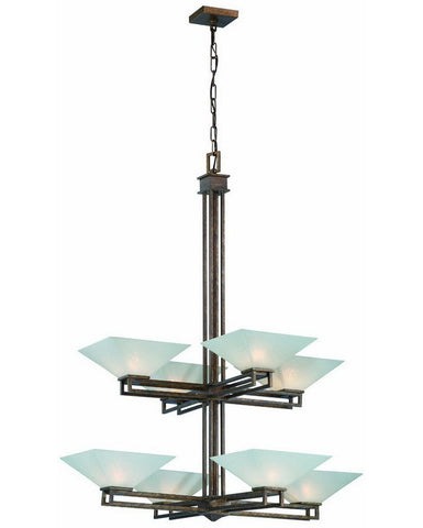 Nuvo Lighting 60-4408 Ratio Collection Eight Light Chandelier in Inca Gold Finish - Quality Discount Lighting