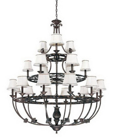 Nuvo Lighting 60-1564 Pickford Collection Twenty One Light Chandelier in Distressed Bronze Finish - Quality Discount Lighting
