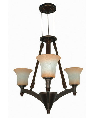 Nuvo Lighting 60-1042 Viceroy Collection Three Light Chandelier in Golden Umber Finish - Quality Discount Lighting