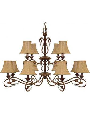Nuvo Lighting 60-1171 Vine Collection Twelve Light Chandelier in Sonoma Bronze Finish - Quality Discount Lighting