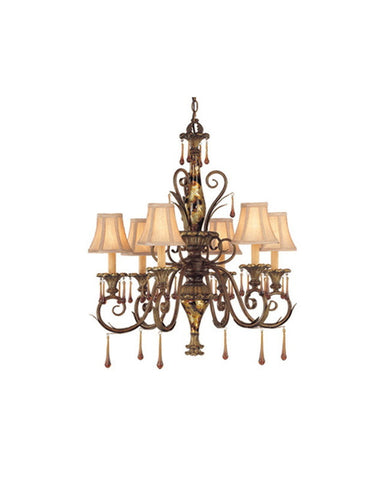 Vaxcel Lighting BM-CHU006 HP Six Light Chandelier in Helenic Patine Finish - Quality Discount Lighting