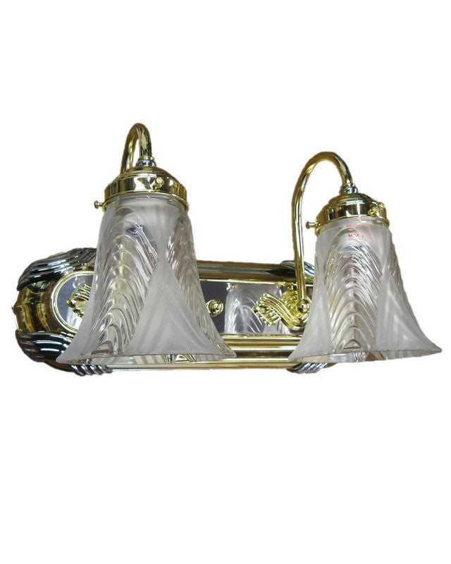 Capital Lighting 1242 PB CH-58 Two Light Bath Vanity Wall Fixture in Polished Brass and Chrome Finish