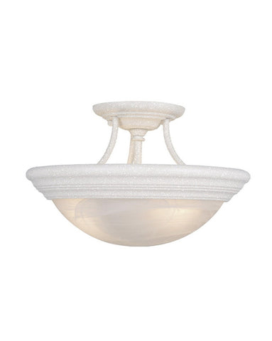 Vaxcel Lighting CC32717 TW Three Light Semi Flush Ceiling Fixture in Textured White Finish - Quality Discount Lighting
