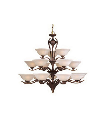Vaxcel Lighting CH27618 WP Eighteen Light Chandelier in Weathered Patina Finish - Quality Discount Lighting