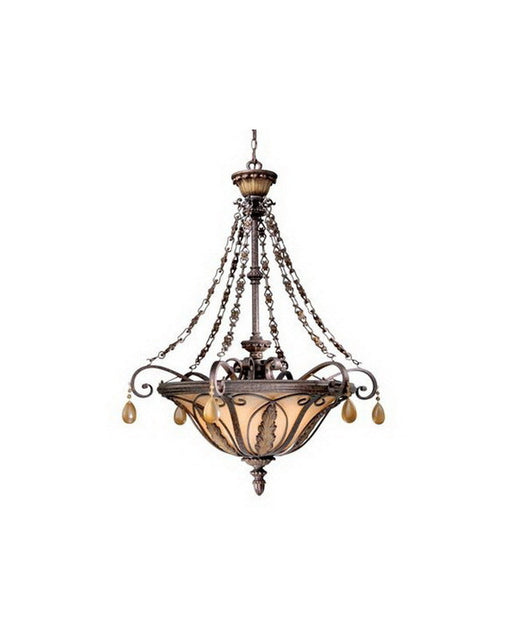 Vaxcel Lighting DY-CHPDD320 FP Six Light Pendant Chandelier in Forum Patina Finish - Quality Discount Lighting