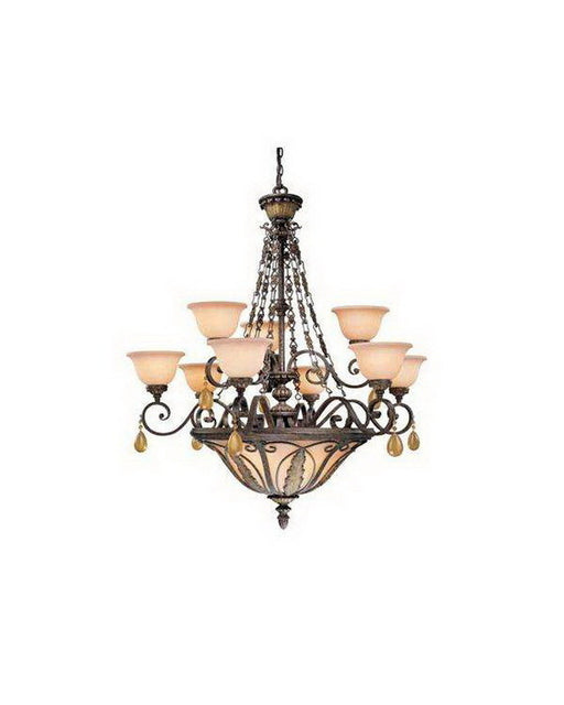Vaxcel Lighting DY-CHB012 FP Twelve Light Chandelier in Forum Patina Finish - Quality Discount Lighting