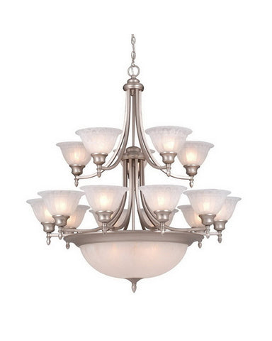 Vaxcel Lighting CH33312 BN Twelve Light Chandelier in Brushed Nickel Finish - Quality Discount Lighting