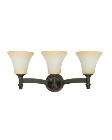 Nuvo Lighting 60-1049 Viceroy Collection Three Light Bath Vanity Wall Mount in Golden Umber Finish - Quality Discount Lighting