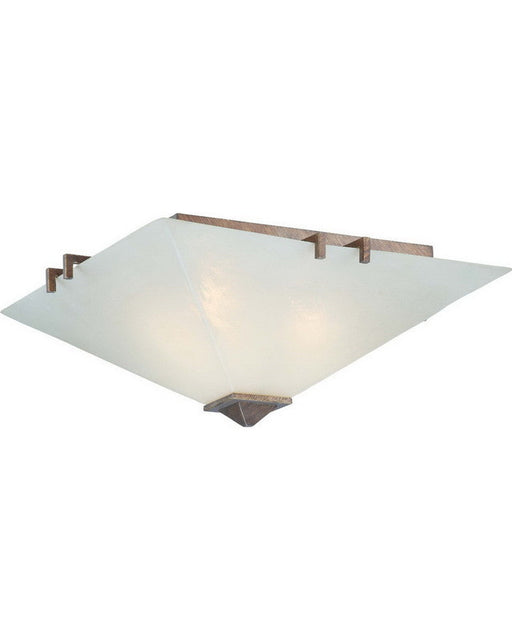 Nuvo Lighting 60-4405 Ratio Collection Three Light Flush Ceiling Light in Inca Gold Finish - Quality Discount Lighting