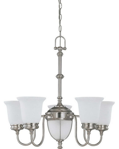 Nuvo Lighting 60-2806 Salem Collection Seven Light Chandelier in Brushed Nickel Finish - Quality Discount Lighting