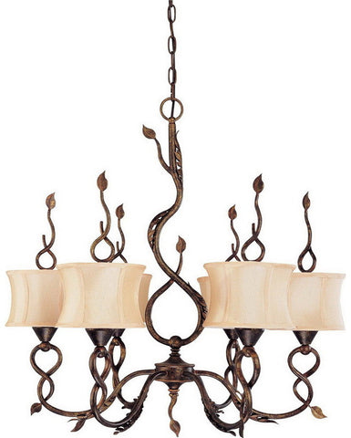 Nuvo Lighting 60-1422 Trellio Collection Six Light Chandelier in Autumn Gold Finish - Quality Discount Lighting