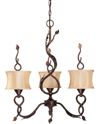 Nuvo Lighting 60-1421 Trellio Collection Three Light Chandelier in Autumn Gold Finish - Quality Discount Lighting