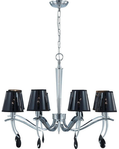Nuvo Lighting 60-4415 Grace Collection Eight Light Chandelier in Polished Chrome Finish - Quality Discount Lighting