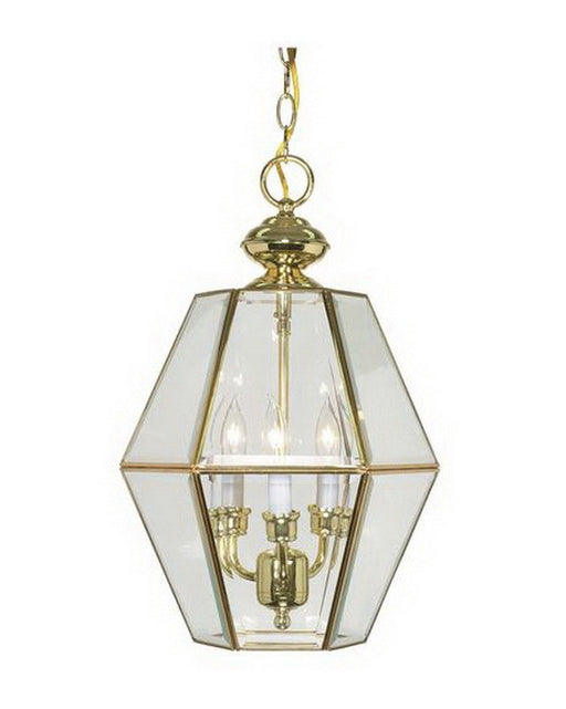Nuvo Lighting 60-511 Three Light Pendant Chandelier in Polished Brass Finish - Quality Discount Lighting