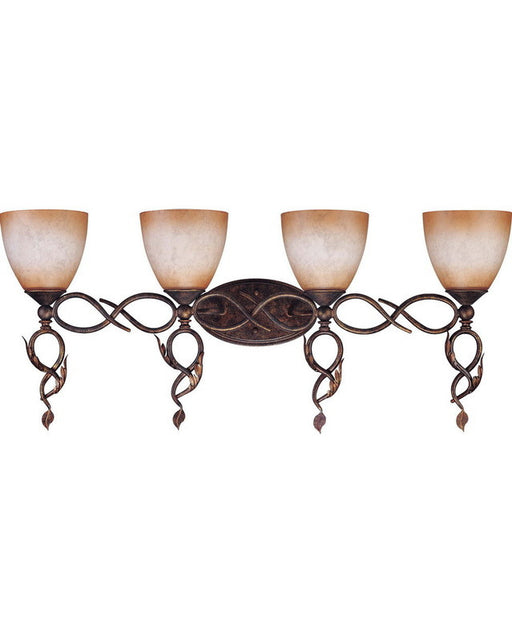 Nuvo Lighting 60-1433 Trellio Collection Four Light Bath Vanity Wall Fixture in Autumn Gold Finish - Quality Discount Lighting