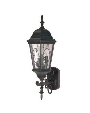 Nuvo Lighting 60-795 Fordham Collection Three Light Exterior Outdoor Wall Lantern in Textured Black Finish - Quality Discount Lighting