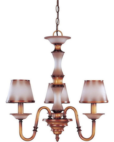Nuvo Lighting 60-1641 Cornelia Collection Three Light Chandelier in Newport Copper Finish - Quality Discount Lighting