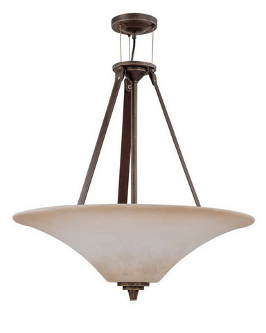Nuvo Lighting 60-2443 Viceroy Collection Four Light Energy Efficient Fluorescent Pendant Chandelier in Golden Umber Finish - Quality Discount Lighting