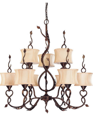 Nuvo Lighting 60-1423 Trellio Collection Nine Light Chandelier in Autumn Gold Finish - Quality Discount Lighting