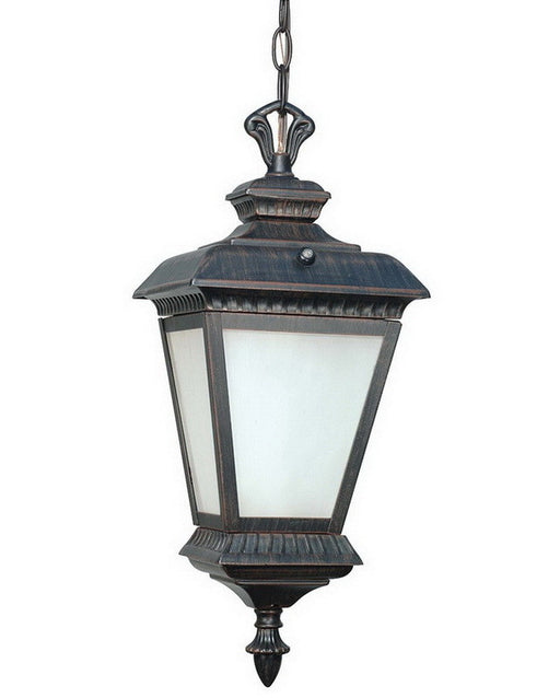 Nuvo Lighting 60-2524 Charter Collection One Light Energy Efficient Fluorescent Exterior Outdoor Hanging Pendant Lantern in Old Penny Bronze Finish - Quality Discount Lighting