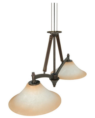 Nuvo Lighting 60-2447 Viceroy Collection Two Light Energy Efficient Fluorescent Island Chandelier in Golden Umber Finish - Quality Discount Lighting