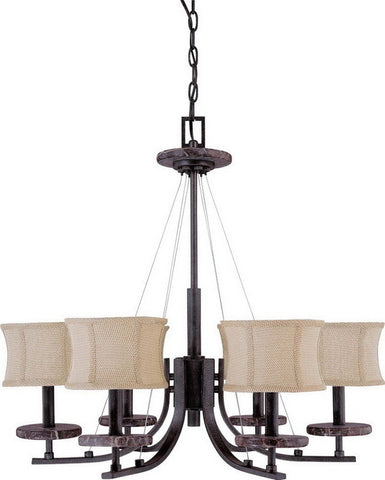 Nuvo Lighting 60-1442 Madison Collection Six Light Chandelier in Ledgestone Finish - Quality Discount Lighting