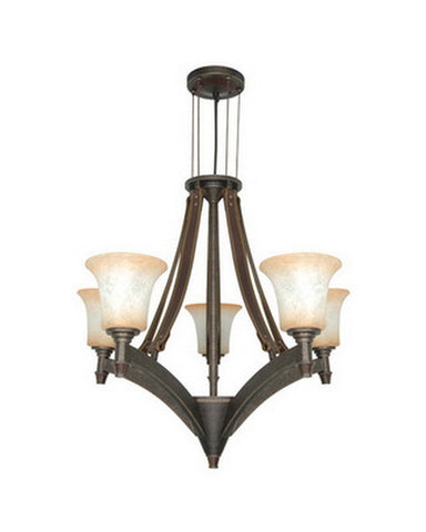 Nuvo Lighting 60-2444 Viceroy Collection Five Light Energy Efficient Fluorescent Chandelier in Golden Umber Finish - Quality Discount Lighting