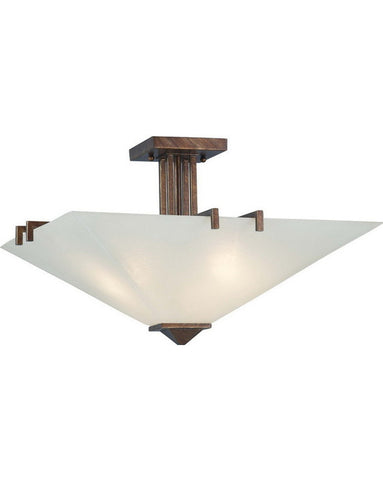 Nuvo Lighting 60-4406 Ratio Collection Three Light Semi Flush Ceiling Light in Inca Gold Finish - Quality Discount Lighting